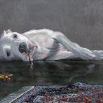 Mehran Zirak-peinture-chien-tapis
